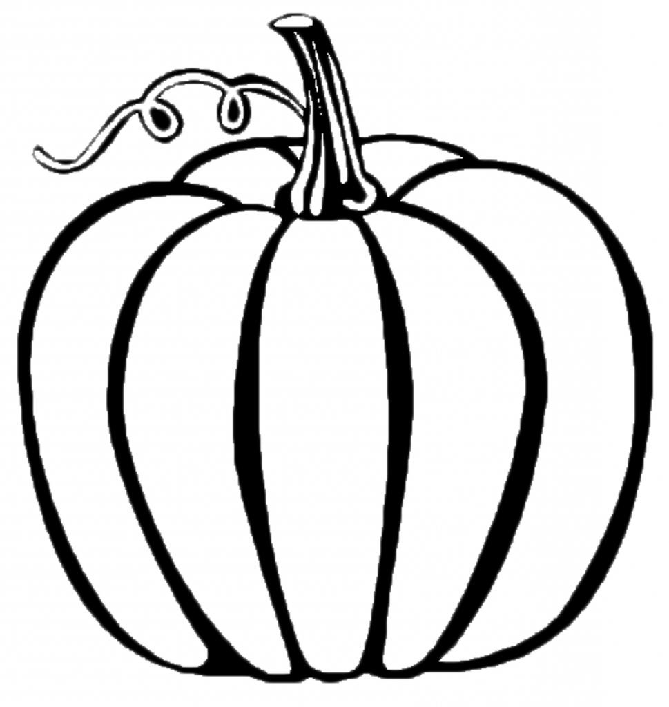 Simple Pumpkin Drawing