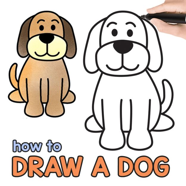 Simple Puppy Drawing