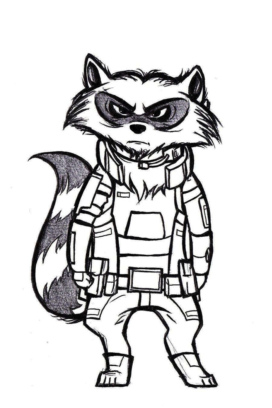 Simple Rocket Drawing