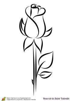 Simple Rose Bud Drawing