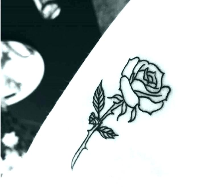 706x676 Simple Rose Drawing Pin Up Tattoo Outline Pictures To On Simple
