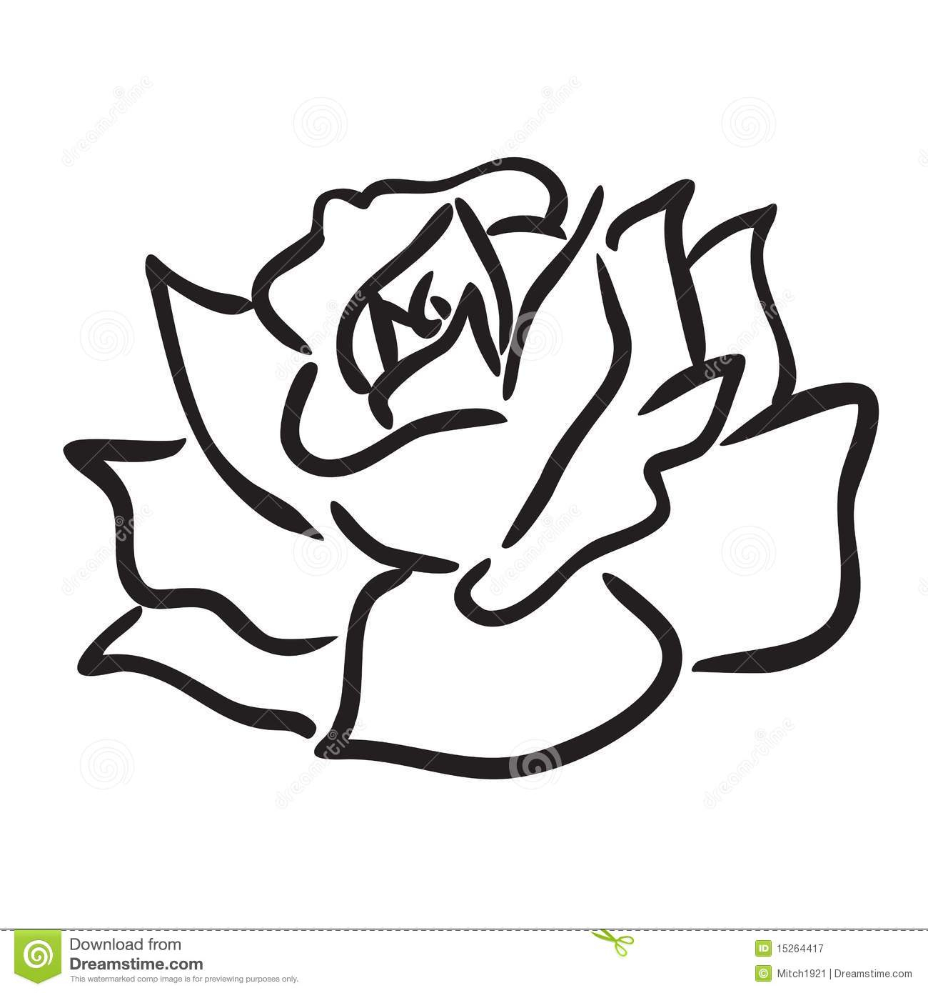 1300x1390 Simple Rose Flower Drawings And Rose Flower Drawing Images Easy