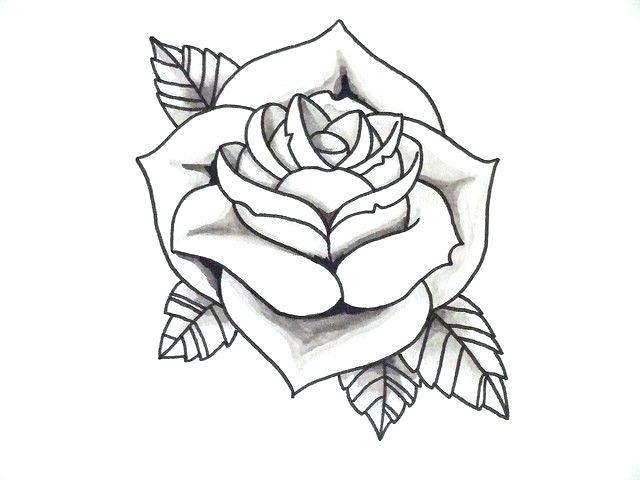 640x480 Simple Rose Outline Easy Rose Drawing Outline Gallery Simple Rose