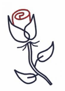 218x302 Draw A Simple Rose, Step