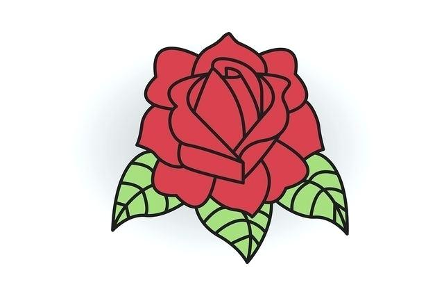 640x426 Drawing Of A Simple Rose How To Draw A Classic Tattoo Style Rose