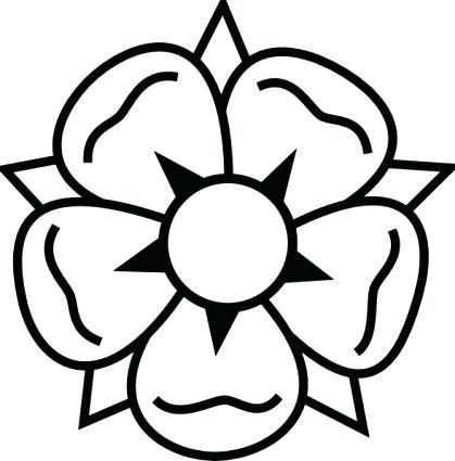 419x425 Flower Drawings Easy Download