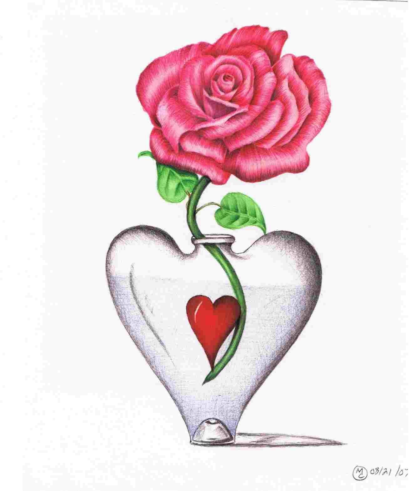 1319x1570 Simple Rose Flower Drawing