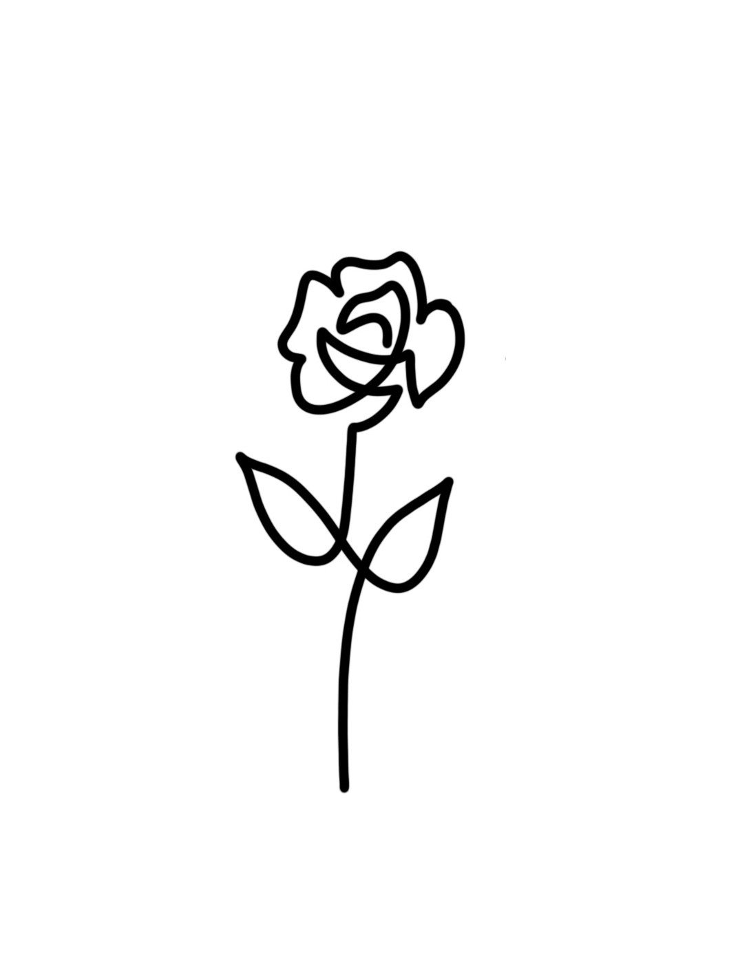 Simple Rose Line Drawing | Free download on ClipArtMag