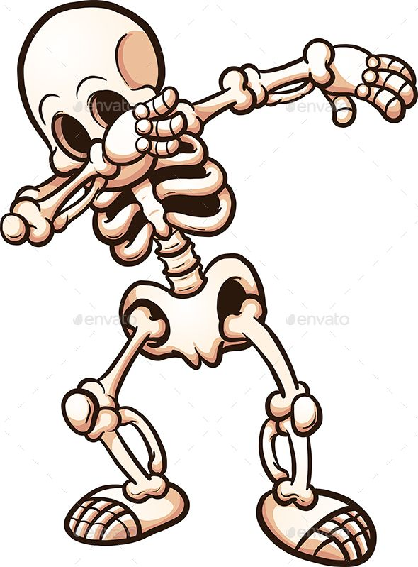 590x799 Dabbing Cartoon Skeleton Vector Clip Art Illustration