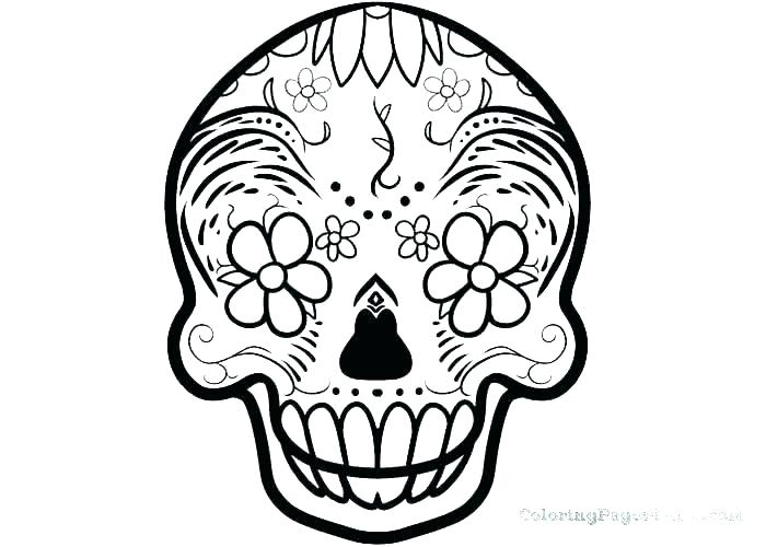 700x500 Mexican Skull Coloring Pages Sugar Skull Mexican Skeleton Coloring