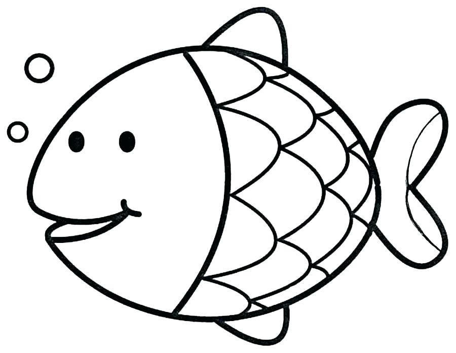 900x696 Simple Drawing Fish Simple Fish Drawing Image