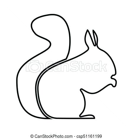 450x470 Simple Drawing Of A Squirrel Drawing A Cartoon Squirrel