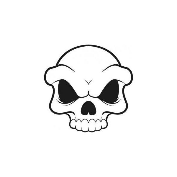 600x600 Simple Skull Drawings