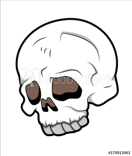 425x500 Simple Skull Drawing