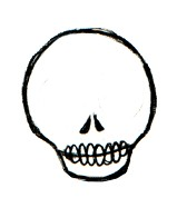159x187 On Simple Skull Drawing