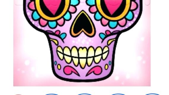 570x320 How To Draw A Sugar Skull Free Awesome Sugar Skull Graphics Where