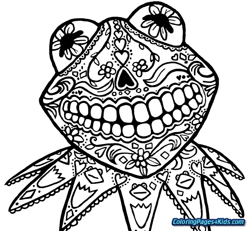 800x741 Simple Sugar Skull Coloring Pages Free Printable Coloring Pages