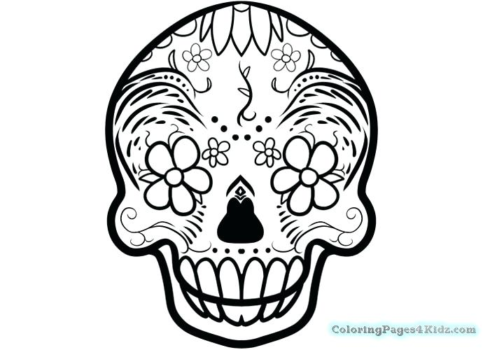 700x500 Simple Sugar Skull Coloring Pages Home Improvement Catalog License