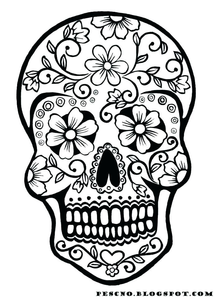698x960 Simple Sugar Skulls Simple Sugar Skull Drawing Lo E Love It Cause