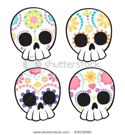 437x470 simple sugar skulls to draw sugar skulls love it sugar simple half