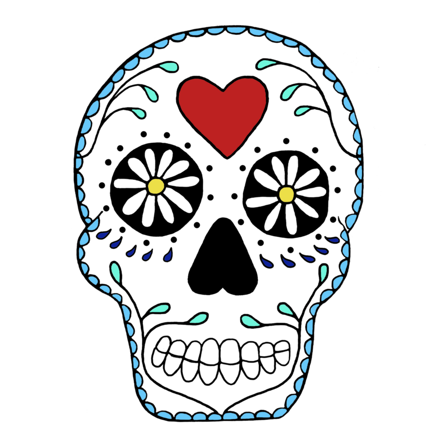 900x900 Skull, Drawing, Face, Transparent Png Image Clipart Free Download