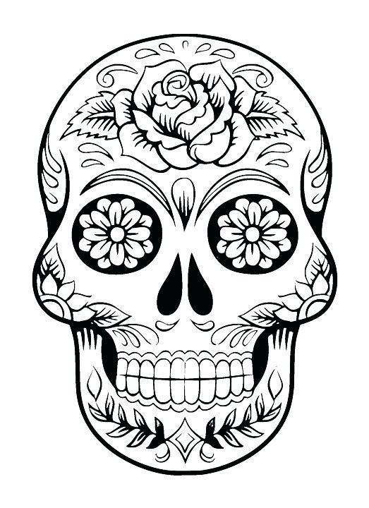 Simple Sugar Skull Drawing Free Download Best Simple Sugar Skull