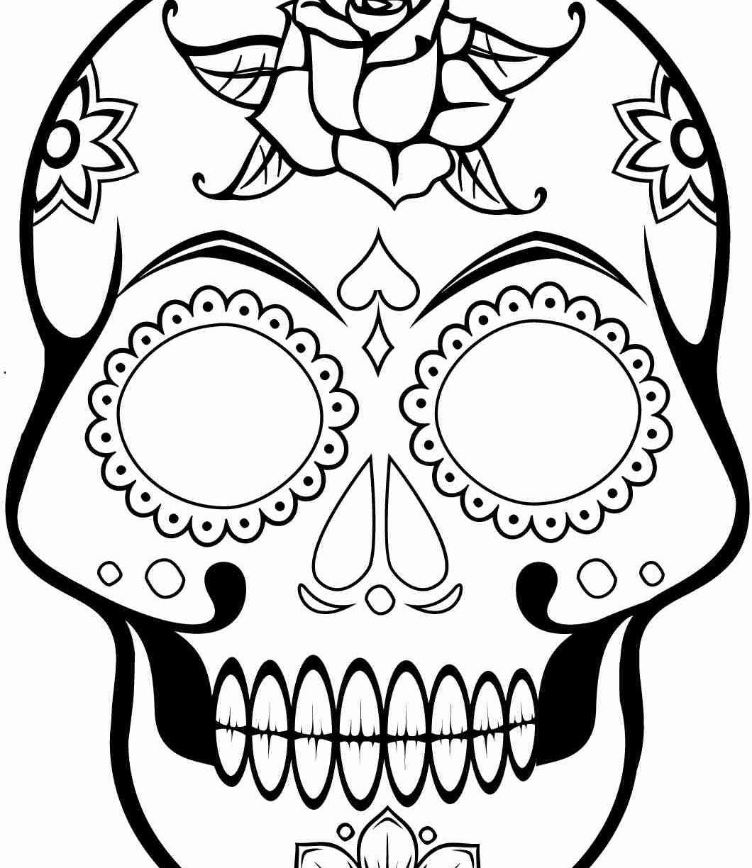 Simple Sugar Skull Drawing | Free download best Simple Sugar ...