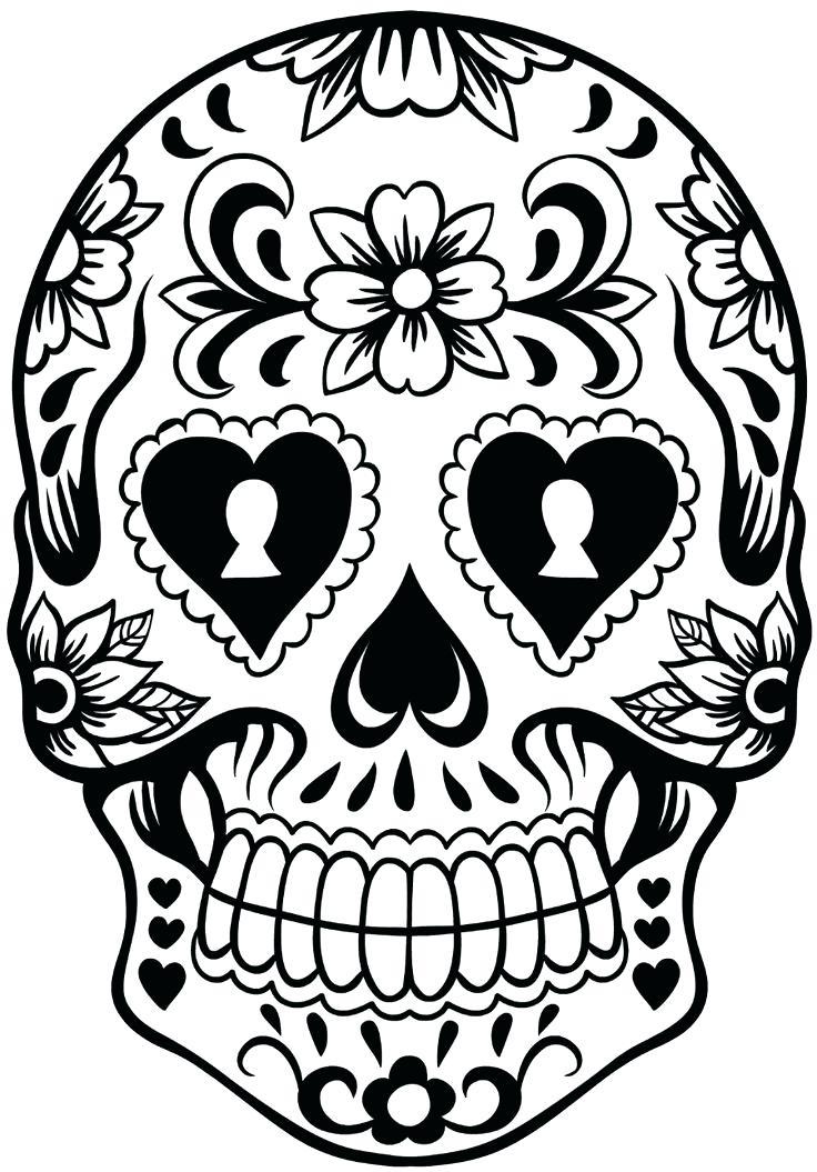 736x1055 Sugar Skull Simple Template Designs For Pumpkins
