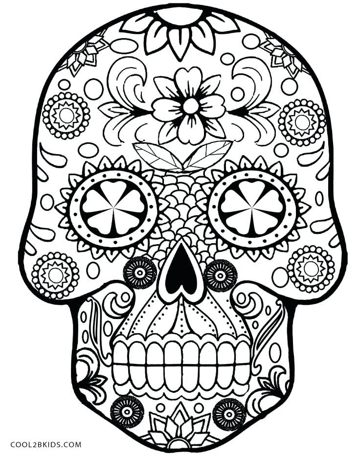 736x930 Sugar Skull Simple Drawing Pictures Best Skeleton Coloring Pages