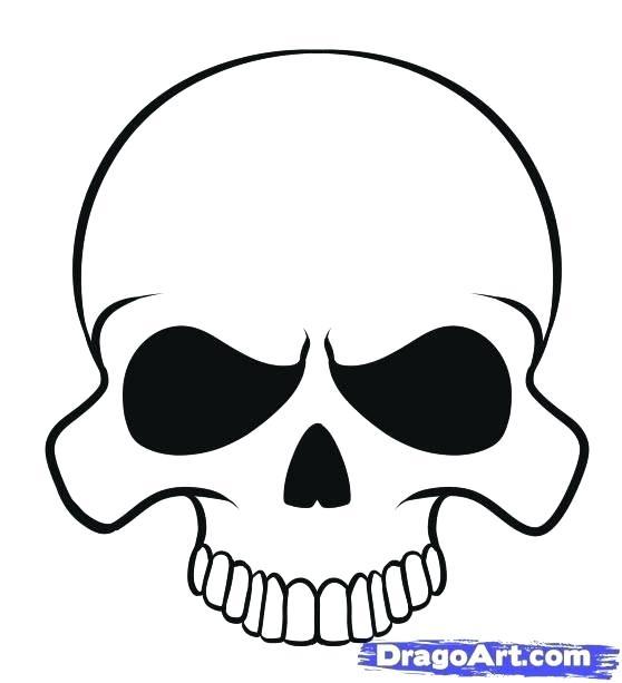 558x613 Easy To Draw Skulls