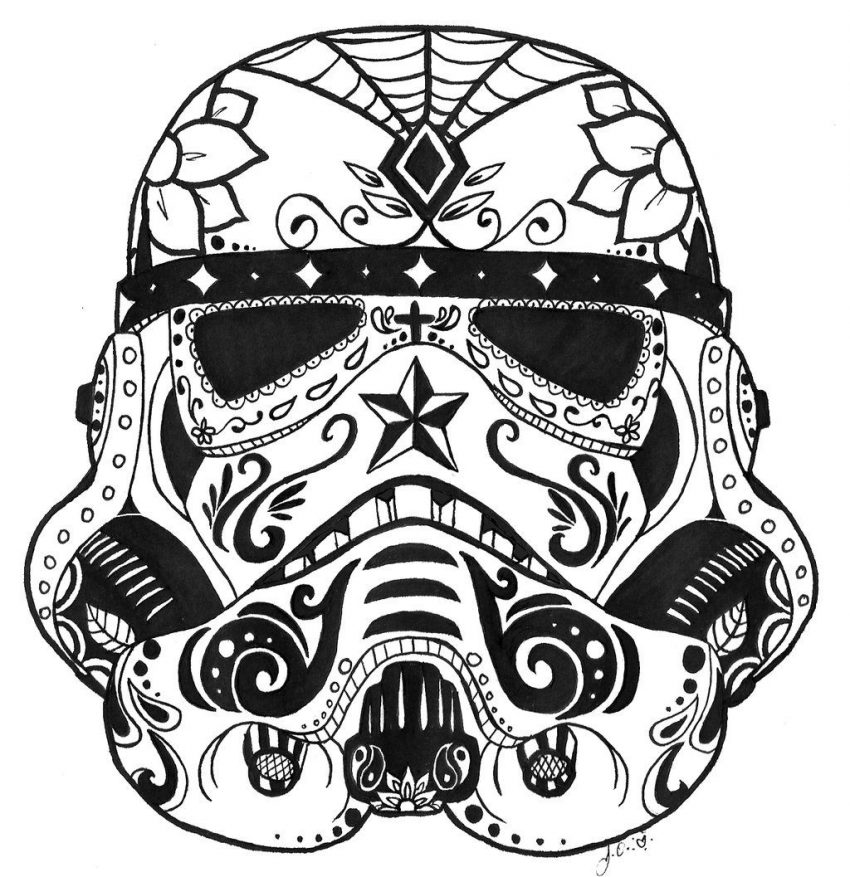 Simple Sugar Skull Drawing | Free download on ClipArtMag