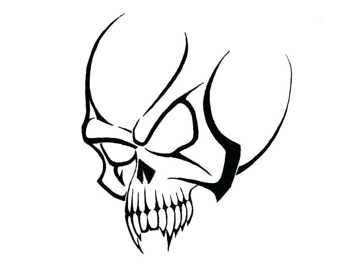 700x525 How To Draw A Simple Skull A Pseudo Sugar Skull From Start