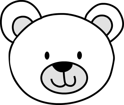 400x339 Simple Black And White Bear Pictures Bear Clip Cliparts