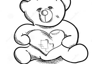 300x210 Simple Teddy Bear Drawing How To Draw A Teddy Bear Colouring