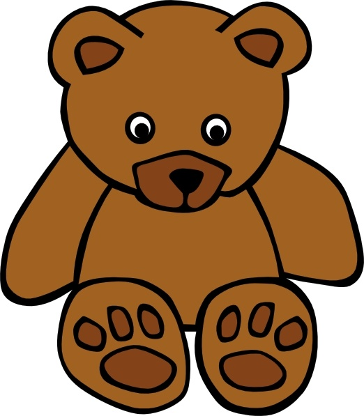 522x597 Simple Teddy Bear Clip Art Free Vector In Open Office Drawing