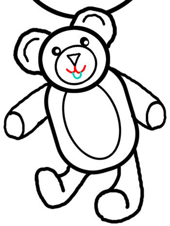 350x466 Step Drawing Teddy Bears With Simple Tutorial Instructions