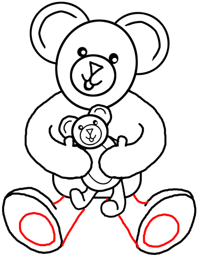 400x511 Step Drawing Teddy Bears With Simple Tutorial Instructions