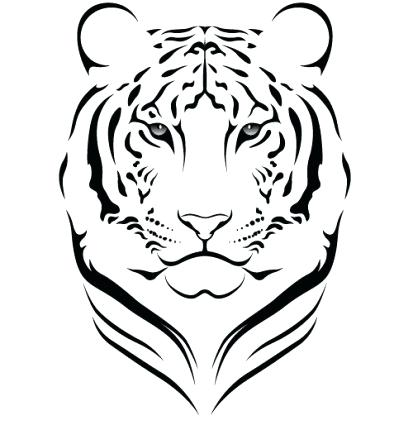 Simple Tiger Face Drawing | Free download best Simple Tiger