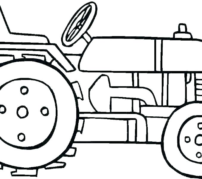 Simple Tractor Drawing   Free download on ClipArtMag