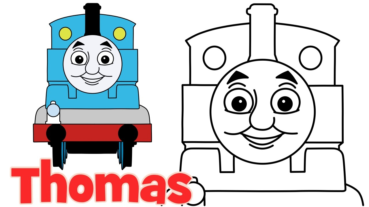 1280x720 clip art how to draw thomas from thomas and friends step