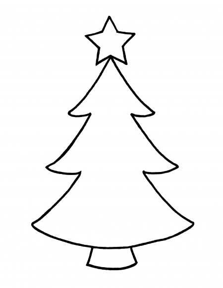450x581 Huge Collection Of 'christmas Tree Simple Drawing' Download More