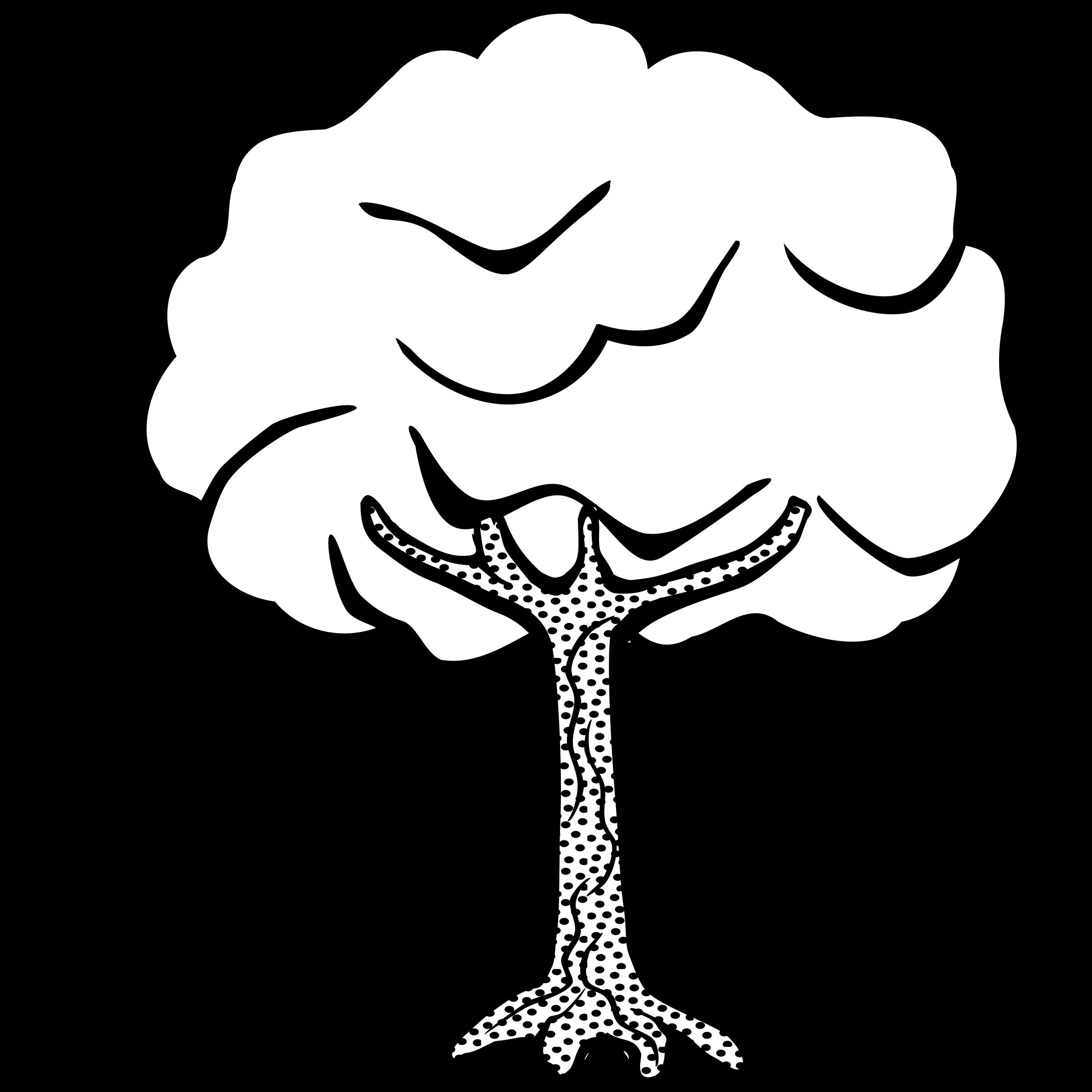 2400x2400 Line Art Trees Clip Art