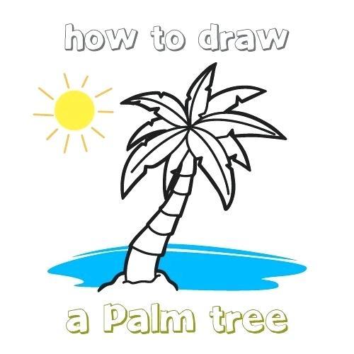 500x500 Simple Palm Tree Drawing Palm Simple Palm Tree Line Drawing