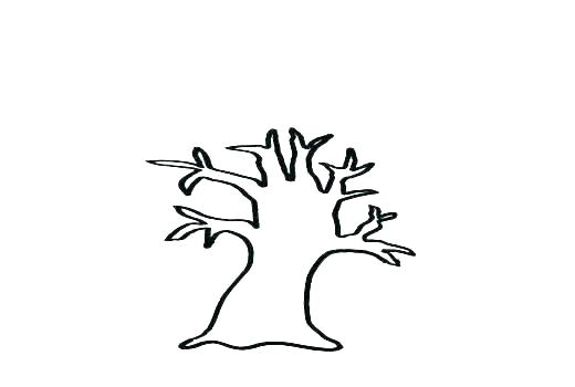 520x350 Simple Tree Outline Simple Tree Outline Clip Art Of A Pine Simple