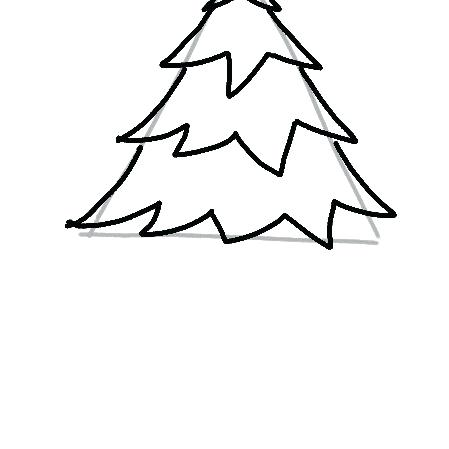 449x449 Drawing Of A Christmas Tree