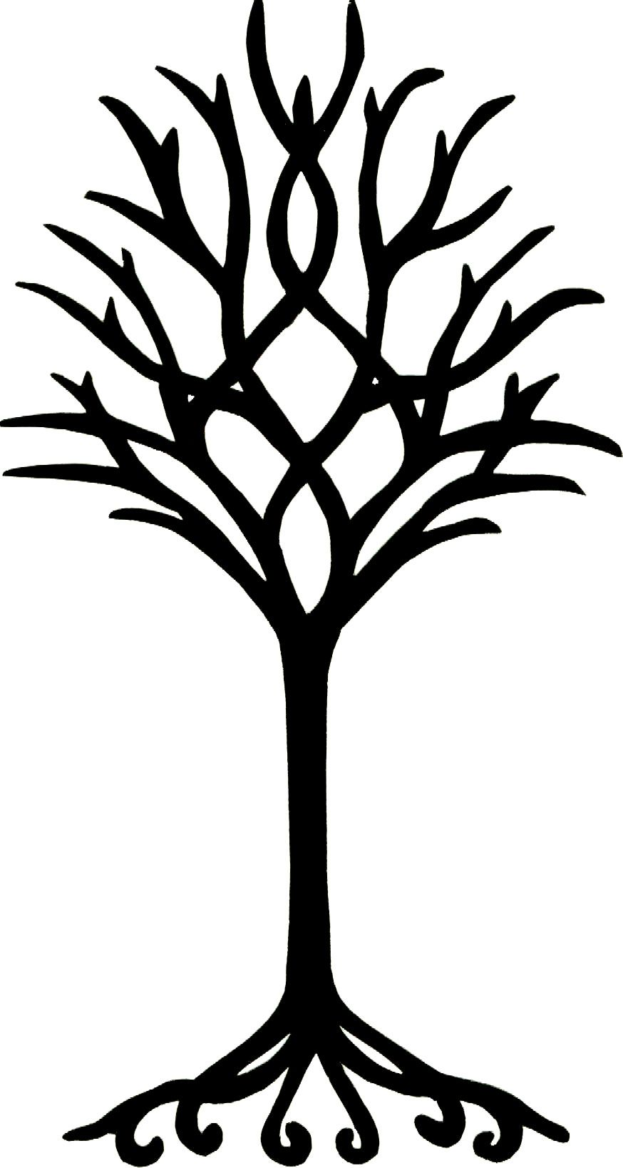 874x1638 Simple Tree Colouring Pages