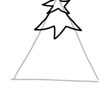 382x382 Christmas Simple Drawings Simple Card Drawings Step