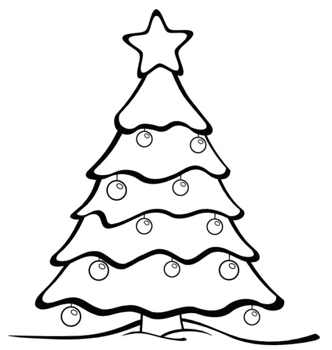 685x721 Christmas Tree Drawing Outline Outline Tree Image Result
