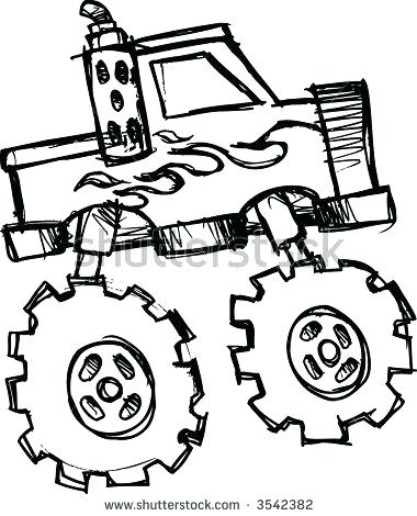 380x470 monster truck sketch monster truck sketch simple
