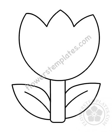 image about Tulip Pattern Printable referred to as Basic Tulip Drawing Free of charge obtain least complicated Straightforward Tulip